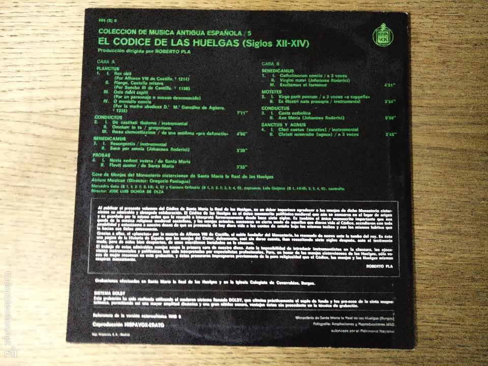 Discos de vinilo: C.M.A.E. Nº 5 EL CÓDIGO DE LAS HUELGAS -S. XII - S-XIV - Foto 2 - 57843573
