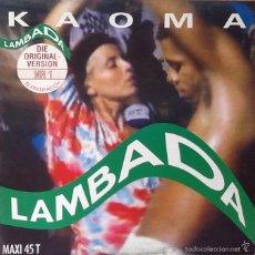 Discos de vinilo: KAOMA : LAMBADA [NLD 1989] 12'. Lote 56190611