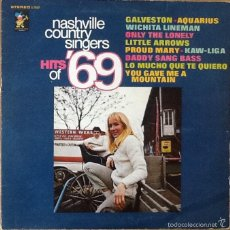 Discos de vinilo: NASHVILLE COUNTRY SINGERS : TOP HITS OF '69 [USA 1969]. Lote 56167511