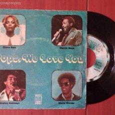Discos de vinilo: MARVIN GAYE DIANA ROSS SMOKEY ROBINSON STEVIE WONDER, POPS WE LOVE YOU (TAMLA MOTOWN) SINGLE ESPAÑA. Lote 57852053