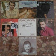 Discos de vinilo: LOTE DE 7 SINGLE DE ALBERTO CORTEZ. Lote 57856170