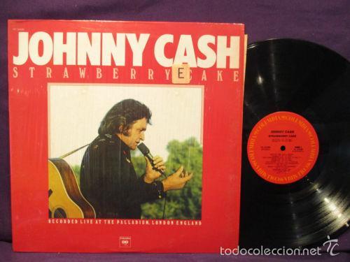 JOHNNY CASH / STRAWBERRY CAKE 1976, RARO LP / OFICIAL DISCOGRAFIA - USA IMPORT !! IMPECABLE (Música - Discos - LP Vinilo - Country y Folk)