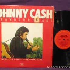 Discos de vinilo: JOHNNY CASH / STRAWBERRY CAKE 1976, RARO LP / OFICIAL DISCOGRAFIA - USA IMPORT !! IMPECABLE. Lote 57856773