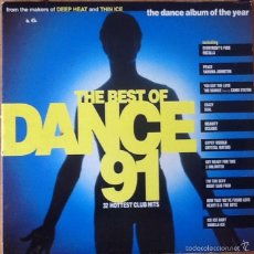 Discos de vinilo: V / A : THE BEST OF DANCE 91 [UK 1991] LPX2/COMP/GAT. Lote 56391610