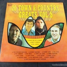 Discos de vinilo: 20 TOWN & COUNTRY GREATS . Lote 57864976