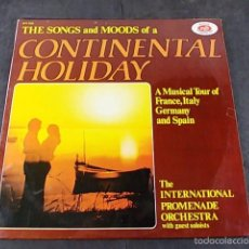 Discos de vinilo: THE SONGS AND MOODS OF A CONTINENTAL HOLIDAY. Lote 57865813