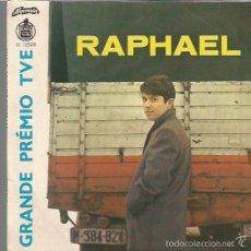 Discos de vinilo: RAPHAEL EP SELLO ALVORADA-HISPAVOX EDITADO EN PORTUGAL FESTIVAL DE EUROVISION AÑO 1966. Lote 57870340