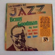 Discos de vinilo: BENNY GOODMAN, LOS GRANDES DEL JAZZ Nº38, LP COLECCION GRAN ENCICLOPEDIA DEL JAZZ, SARPE 1981. Lote 57870746