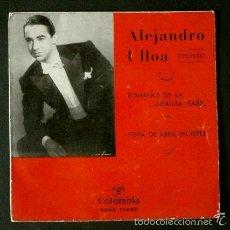 Discos de vinilo: ALEJANDRO ULLOA (SOLO PORTADA / FUNDA SIN DISCO) ROMANCE DE LA INFANTA ISABEL -(TAMBIEN SE REGALA). Lote 57888856