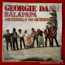 Discos de vinilo: GEORGIE DANN (SOLO PORTADA / FUNDA SIN DISCO) BALAPAPA -SINGLE DISCOPHON (TAMBIEN SE REGALA). Lote 57889862