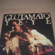 Discos de vinilo: GLUTAMATO YE YE - 2 LP ESTO FUE TODO TWINS PRODUCCIONES 1987-VER FOTOS. Lote 57892639
