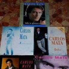Discos de vinilo: LOTE DE 5 SINGLE DE CARLOS MATA . Lote 57893403