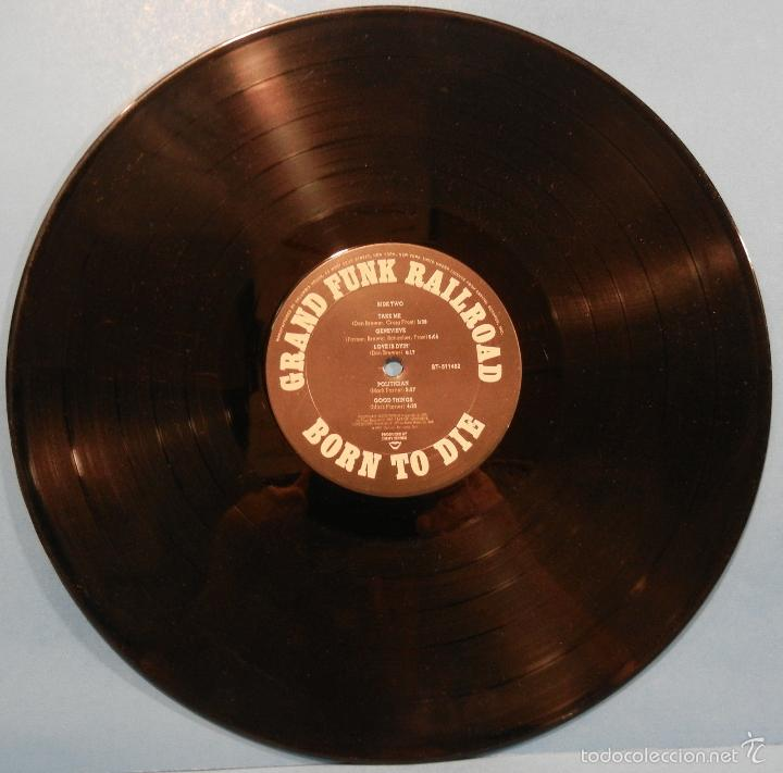 Discos de vinilo: grand funk railroad - BORN TO DIE 1975 !! rara completa 1ª edic org usa + encarte, exc - Foto 7 - 57893789