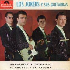Discos de vinilo: JOKERS Y SUS GUITARRAS, EP, ANDALUCIA + 3, AÑO 1964. Lote 57913895