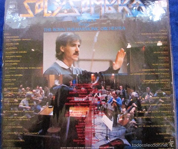 Discos de vinilo: SOL Y SOMBRA- PASODOBLES-THE ROYAL PHILAMONIC ORCHESTRA- LUIS COBOS - Foto 2 - 57914102
