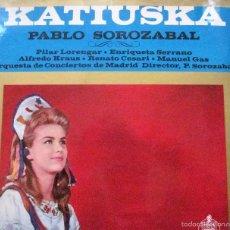 Discos de vinilo: KATIUSKA. PABLO SOROZABAL.. Lote 57914595