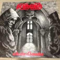 Discos de vinilo: DEATHWISH - AT THE EDGE OF DAMNATION LP UK 87 METALWORKS - HEAVY METAL TRASH. Lote 57915741