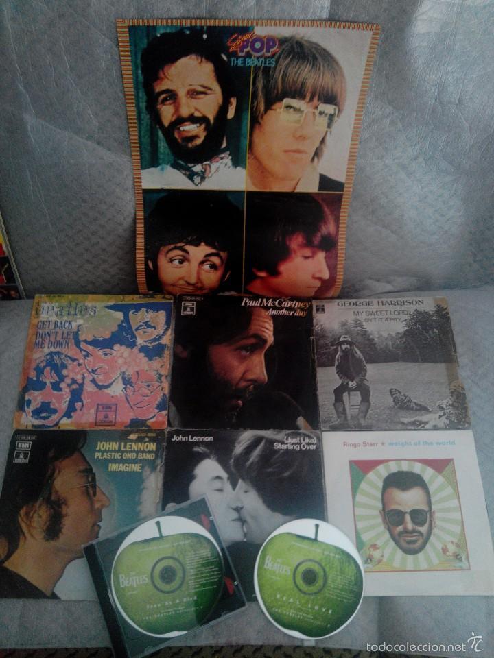 Discos de vinilo: LOTE AÑOS REBELDES 70' LIBRO + VINILOS BEATLES, STONE, BEE GEES + regalo cassette y poster - Foto 2 - 57922724
