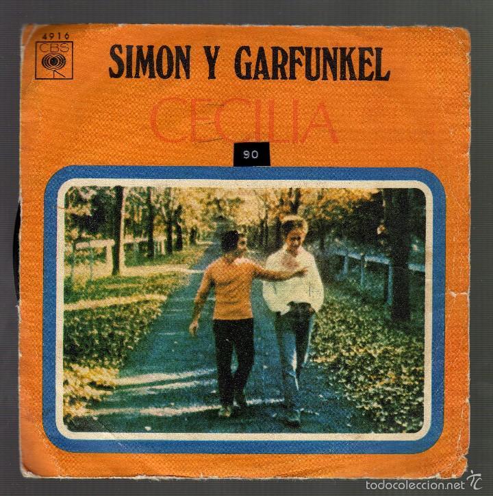 SIMON Y GARFUNKEL - CECILIA / THE ONLY LIVING BOY IN NEW YORK · CBS, 1970 - (Música - Discos - Singles Vinilo - Pop - Rock - Extranjero de los 70)