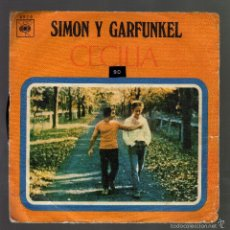 Discos de vinilo: SIMON Y GARFUNKEL - CECILIA / THE ONLY LIVING BOY IN NEW YORK · CBS, 1970 -. Lote 57923600