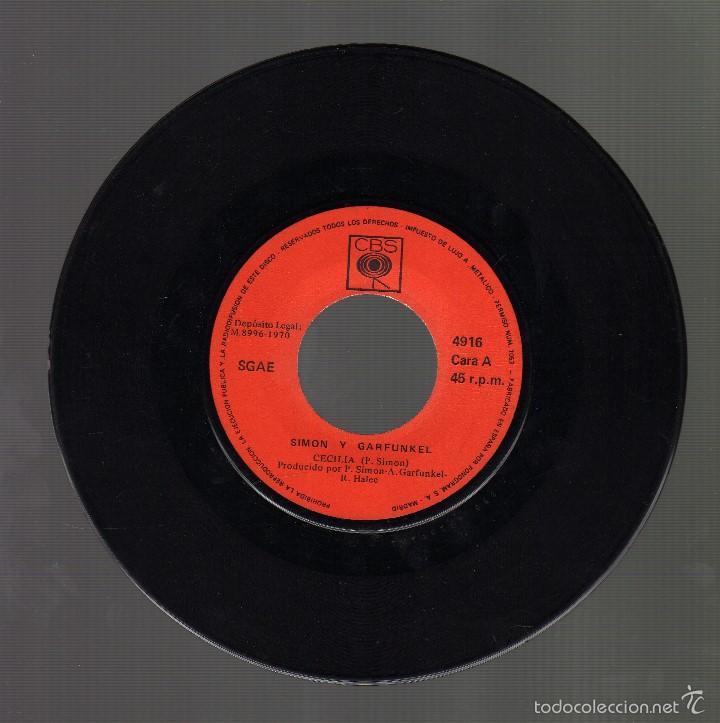 Discos de vinilo: SIMON Y GARFUNKEL - Cecilia / The only living boy in New York · Cbs, 1970 - - Foto 3 - 57923600