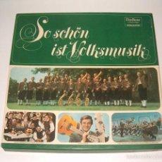 Discos de vinilo: VV. AA. SO SCHÖN IST VOLKSMUSIK. RMT75539. . Lote 57929310