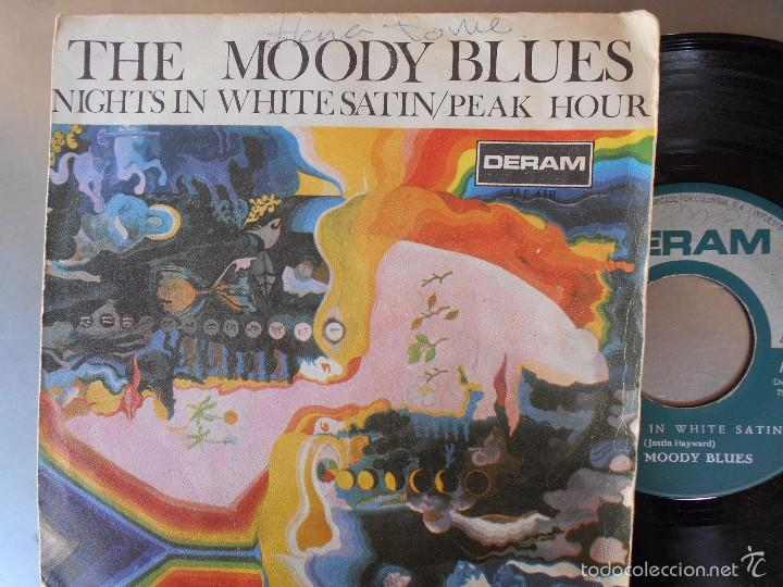 THE MOODY BLUES-1967-NIGHTS IN WHITE SATIN SINGLE (Música - Discos - Singles Vinilo - Pop - Rock Extranjero de los 50 y 60)