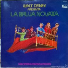 Discos de vinilo: WALT DISNEY PRESENTA LA BRUJA NOVATA. HISPAVOX, SPAIN 1973 ( LP + DOBLE CUBIERTA + LIBRETO). Lote 57937358