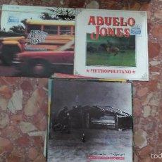 Discos de vinilo: LOTE DE 3 SINGLE ABUELO JONES. Lote 57938685