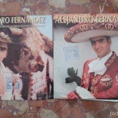 Discos de vinilo: LOTE DE 2 SINGLE DE ALEJANDRO FERNANDEZ. Lote 104096150