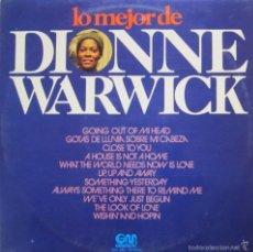 Discos de vinilo: VINILO LP ''LO MEJOR DE DIONNE WARWICK'' 1974. Lote 57946959