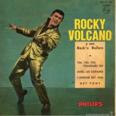 ROCKY VOLCANO y sus ROCK´N ROLLERS, EP, TOI, TOI, TOI, TOUJOURS TOI + 3, AÑO 1961