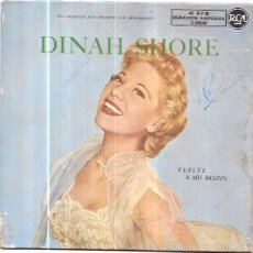 Discos de vinilo: SINGLE. DINAH SHORE. VUELVE A MIS BRAZOS.. Lote 57953366