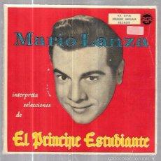 Discos de vinilo: SINGLE. MARIO LANZA. INTERPRETA EL PRINCIPE ESTUDIANTE. ORQUESTA CONSTANTINO CALLINICOS. 2 DISCOS. Lote 57955103