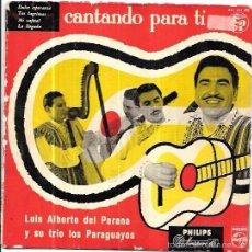 Discos de vinilo: SINGLE. LUIS ALBERTO DEL PARANA Y SU TRIO LOS PARAGUAYOS. CANTANDO PARA TI.. Lote 57955218