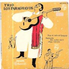 Discos de vinilo: SINGLE. TRIO LOS PARAGUAYOS.. Lote 57955444