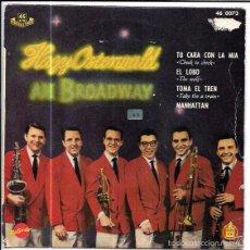 Discos de vinilo: SINGLE. HAZY OSTERWALD EN BROADWAY. SEXTETO DE HAZY OSTERWALD. TU CARA CON LA MIA. EL LOBO. Lote 57956997