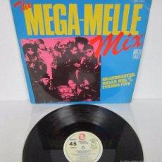Discos de vinilo: GRANDMASTER MELLE MEL & THE FURIOUS FIVE - THE MEGA MELLE MIX - MX - PROMO RARE VINILO N MINT. Lote 148731500