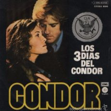 Discos de vinilo: DAVE GRUSIN CONDOR 3 DAYS OF THE CONDOR FUNKY OST SPANISH 45 PS SPAIN 1976. Lote 57992340