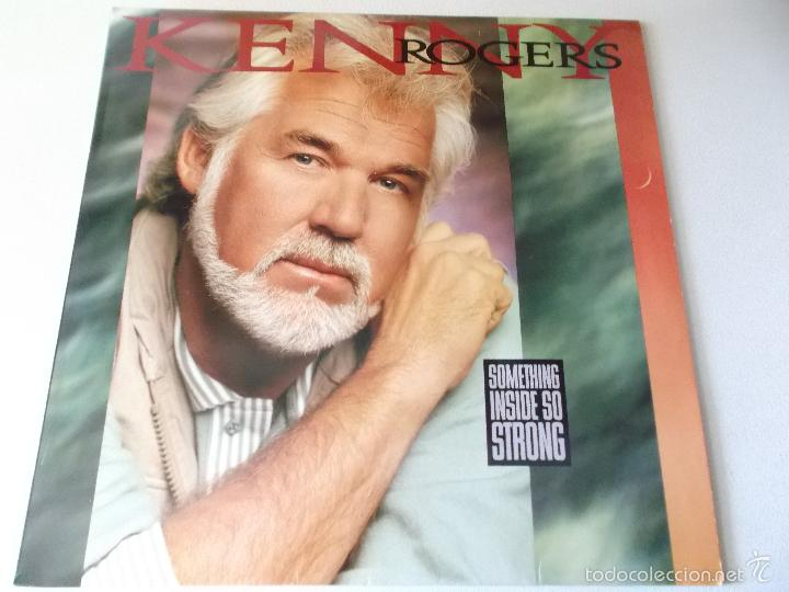 KENNY ROGERS - SOMETHING INSIDE SO STRONG - REPRISE RECORDS 1989 (Música - Discos - LP Vinilo - Country y Folk)