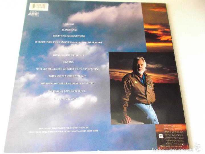Discos de vinilo: KENNY ROGERS - SOMETHING INSIDE SO STRONG - REPRISE RECORDS 1989 - Foto 2 - 57997264
