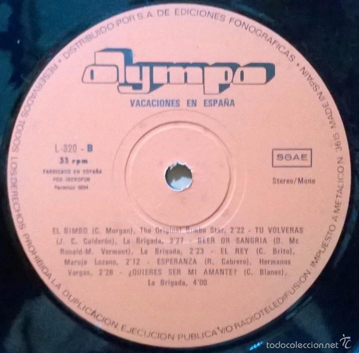 Discos de vinilo: Especial Vacaciones Mallorca, Olympo-L-326 - Foto 3 - 58005312