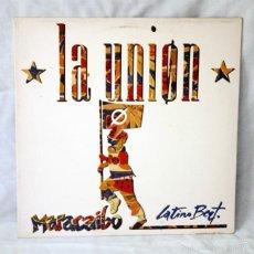 Discos de vinilo: LA UNION - 'MARACAIBO' - 'LATINO BEAT' - MAXI SINGLE - 1988 - WEA - DISCO DE VINILO LP. Lote 58005620
