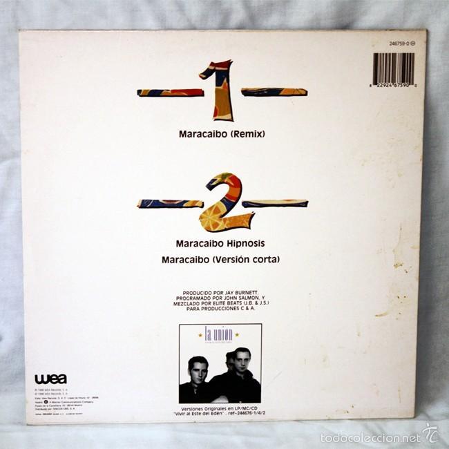 Discos de vinilo: La Union - 'Maracaibo' - 'Latino Beat' - Maxi Single - 1988 - WEA - Disco de Vinilo LP - Foto 2 - 58005620