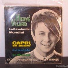 Discos de vinilo: LP VINILO VINYL MUSICA HERVE VILARD LE REVELACION MUNDIAL CAPRI SE ACABO ESPAÑOL Y FRANCES G+ J14. Lote 58019822