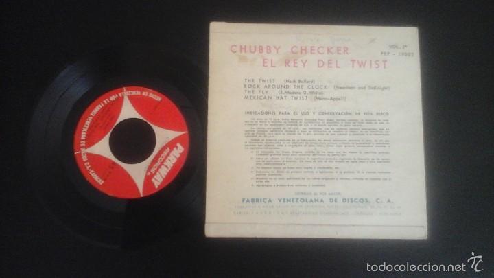 Discos de vinilo: Chubby Checker - El rey del Twist EP Pep 19.002 Rara Edición de Venezuela - Foto 2 - 58020295