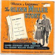 Discos de vinilo: SINGLE. MUSICA Y LAGRIMAS. THE GLENN MILLER STORY. . Lote 58032826