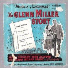 Discos de vinilo: SINGLE. MUSICA Y LAGRIMAS. THE GLENN MILLER STORY. . Lote 58034891
