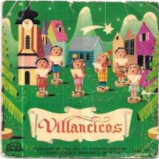 Discos de vinilo: SINGLE. VILLANCICOS POPULARES. ESCOLONIA DE NTRA. SRA. DEL SAGRADO CORAZÓN. . Lote 58040611