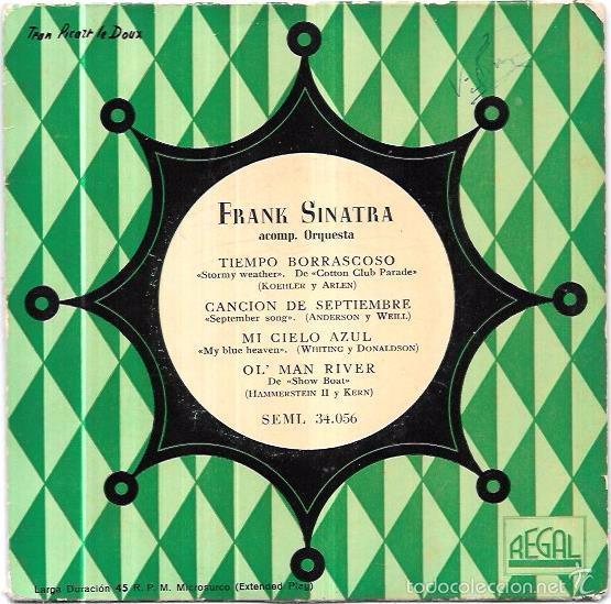 SINGLE. FRANK SINATRA. ACOMP. ORQUESTA. (Música - Discos - Singles Vinilo - Pop - Rock Internacional de los 50 y 60)